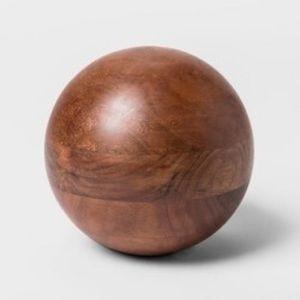 """Decretive Wood Ball Figurine - 6"""""""